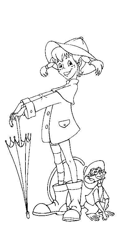 coloring page Pippi Longstocking - Pippi Longstocking