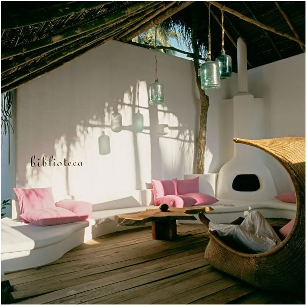 Happy place. Happy place. Happy place.Lounges Chairs, Outdoor Living, Country House, Mexico, Indoor Outdoor, Outdoor Room, Outdoor Spaces, Reading Room, Hotels