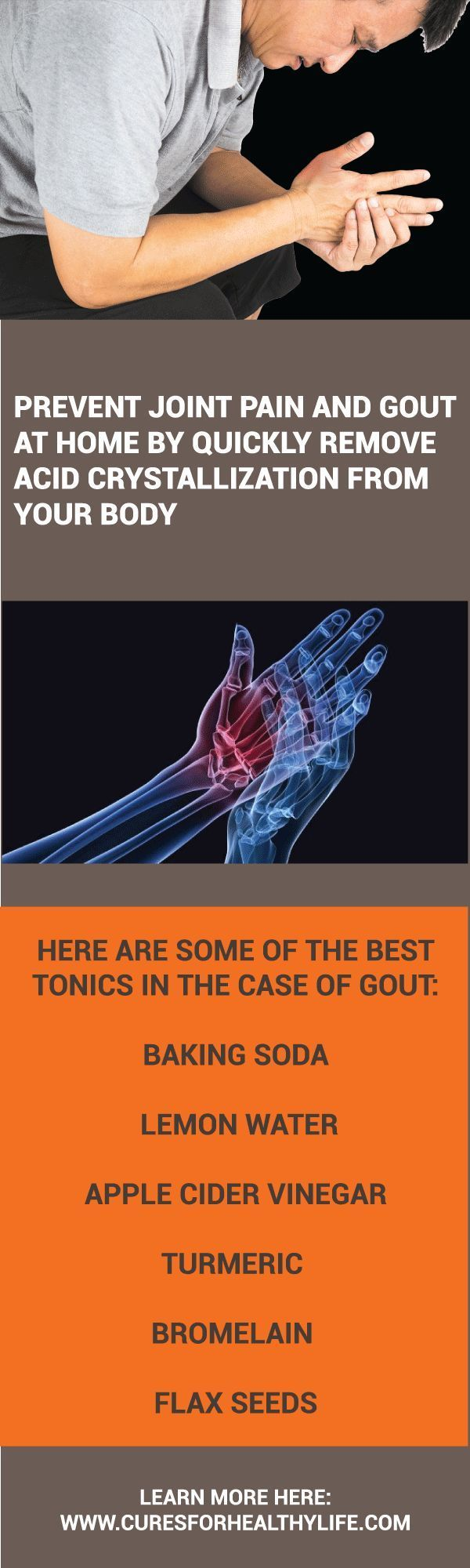 The uric acid crystallization can cause kidney failure arthritis gout and join