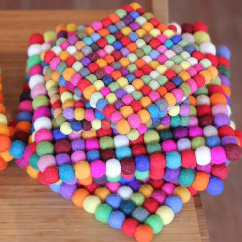 Crafts Using Felted Wool Balls