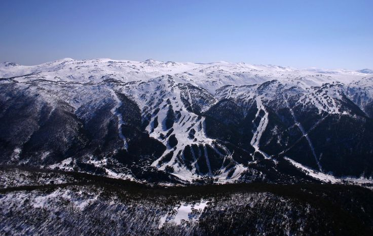 Thredbeo Located in Australia's Snowy Mountains, Thredbo ski resort boasts 14 lifts, 56 trails and 2,204′ of vert. Their season runs from June through September meaning that you can make turns when most of the word's population is sweating in out in the summer heat.