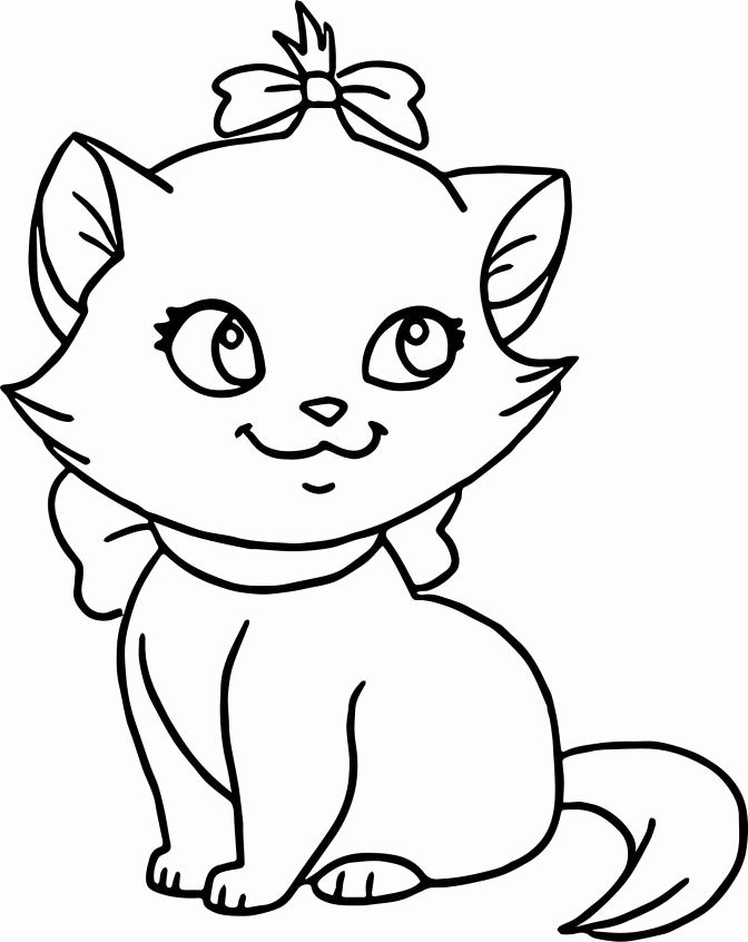 Cat Coloring Pages For Kids In 2020 Kitten Coloring Book Cat Coloring Page Cat Coloring Book
