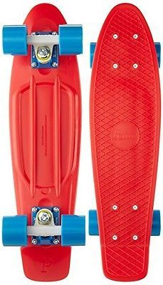Penny Skateboards Penny Complete Skateboard 22-Inch Red/White/Cyan