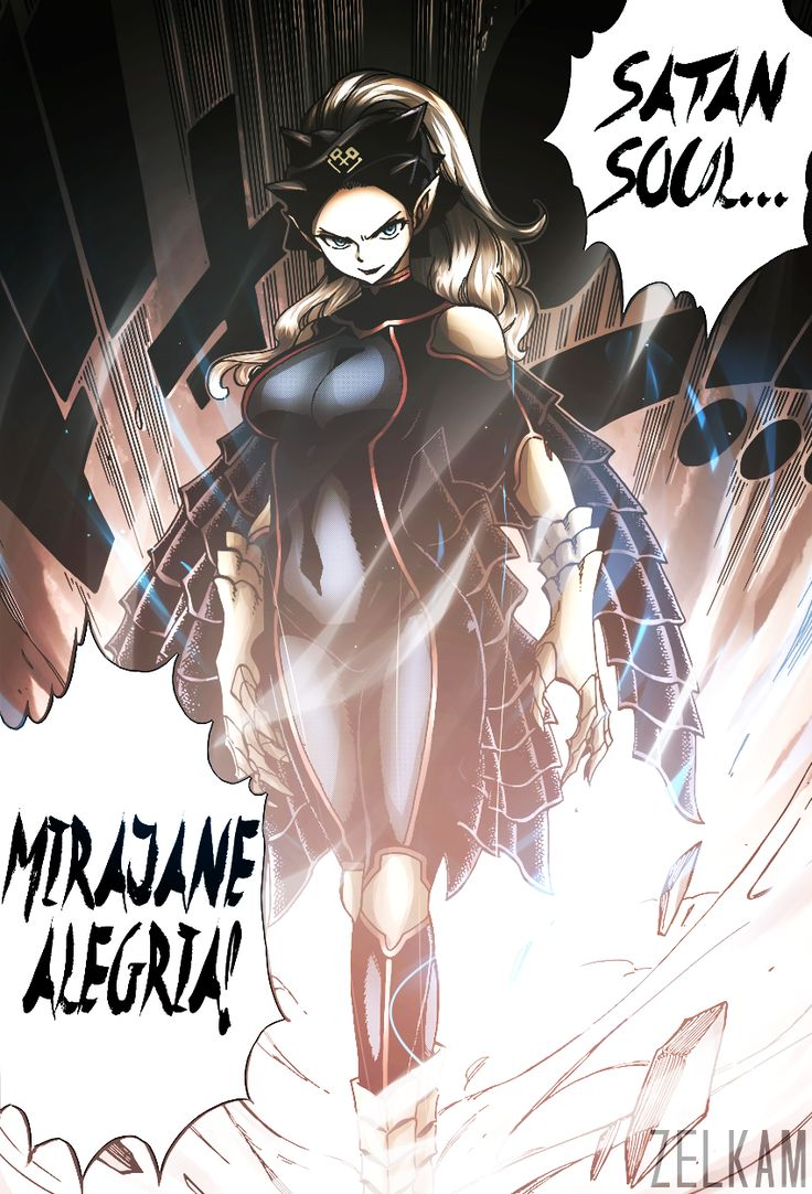 """zelkam: """" ∟ """"what… is that?!"""" // chapter 492 """" Fairy Tail Mirajane"""