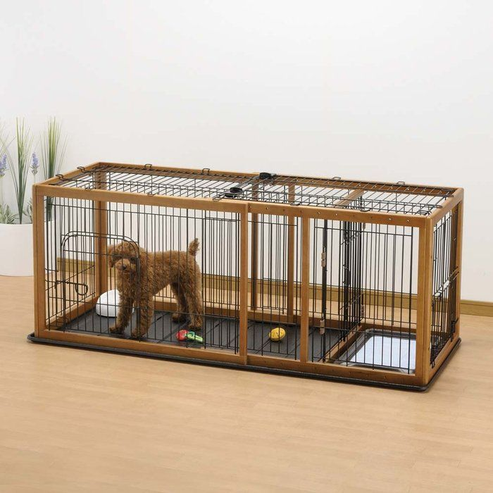 Dog kennels with potty area | Expandable Pet Enclosure / Dog Crate at ...