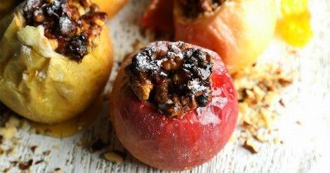 Manzanas+rellenas+deliciosas  Ahuecar, rellenar con avena, azúcar moreno,nueces opcional y cdta de manteca encima. Horno hasta que este tierna.