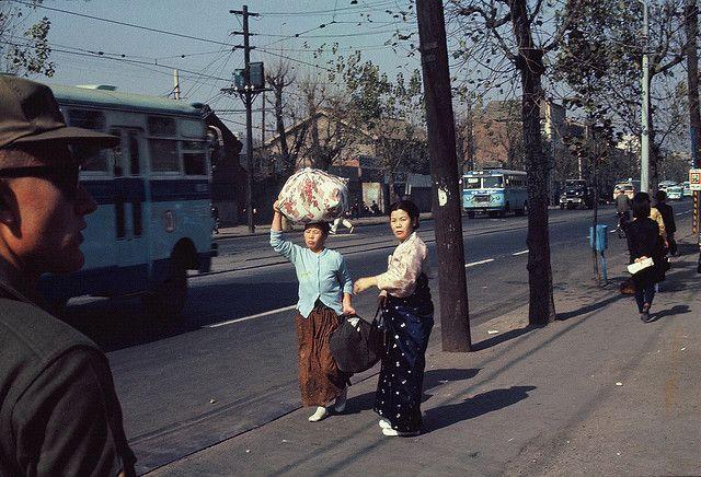 Near Namdaemun Market Seoul 1966 | Photo by Kathryn McNeil.