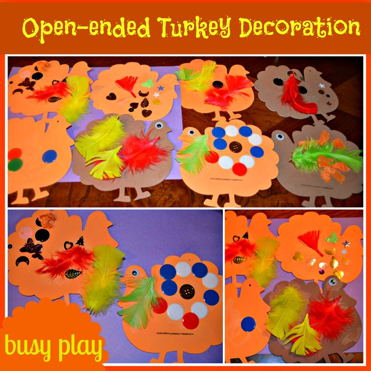 Thanksgiving craft : Good for busy play