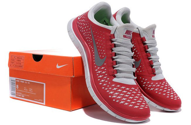 e71b45c81e3c3 Official 2018 Nike Free 3.0 V4 Mens University Red Wolf Grey Silver ...