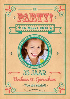 Uitnodiging verjaardag - Verjaardagsuitnodigingen maken   Kaartje2go