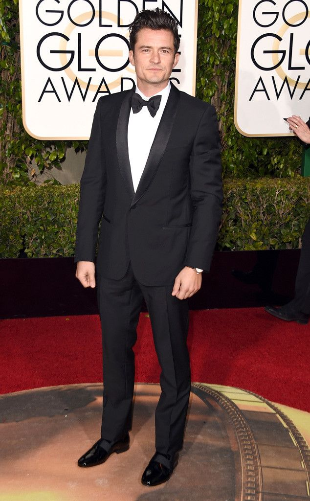 Orlando Bloom from Best Dressed Men at the 2016 Golden Globes  As always, the Digging for Fire actor looks incredibly handsome. We're loving the bow tie look!