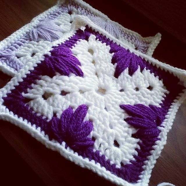 Ravelry: Leaf Stitch Granny Square pattern by Jyneffer Dill