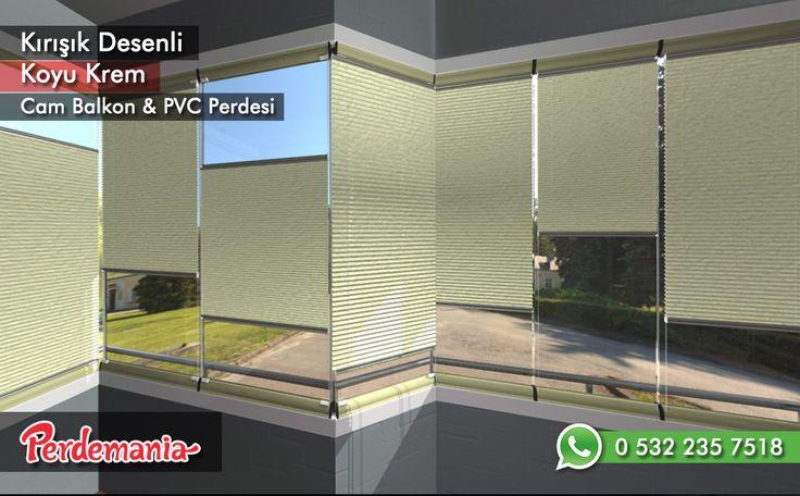 Kırışık Desenli Koyu Krem Cam Balkon Perdesi Kırışık görünümlü, desenli seri üzerindeki desenleri ile kırışık bir görünümündedir ve güneş ışığını soft bir şekilde içeriye yayan yapıdadır. Balkonlar için alternatifi olmayan bir perde türü olan plise perdeler katlanır cam balkonlar için özel üretilmiştir ve katlanmış görüntüsü ile balkon camlarınızda görsel bir şölen sunarken, yanmaz ve kir tutmaz kumaş özelliği ile büyük kolaylıklar sağlar. #perde #cambalkon #balkon #kırışık #krem #dekor…