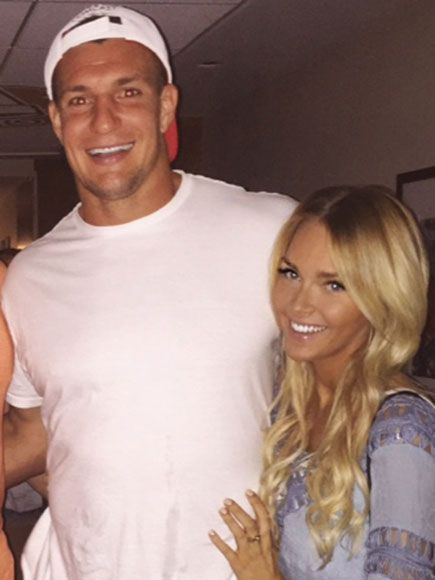 Patriots' Rob Gronkowski and Girlfriend 'Really Enjoy Being with Each Other,' Source Says
