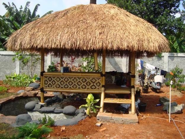 Tukang Saung Bambu | Tukang Saung Taman  | Jasa Tukang Taman Mulya Asri Taman Hp. 0813 1400 3267