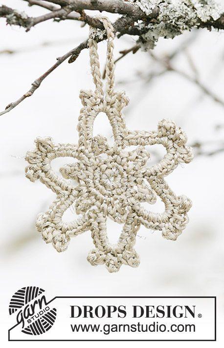 DROPS 104-44 - DROPS stjerne i Cotton Viscose og Glitter til Jul.