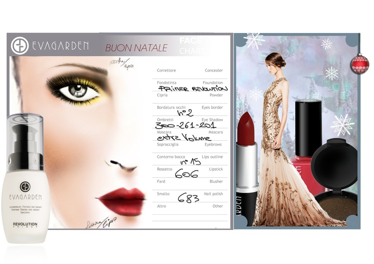 LUXURY MAKE UP LOOK sophisticated and bright. Gold is the undisputed star of the festivities, but not only! image credits: VOGUE.IT    http://www.evagarden.com/Look.php