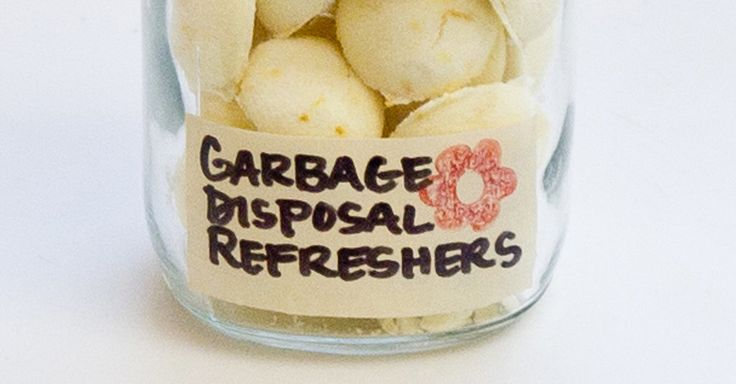Freshen your garbage disposal with these homemade freshener bombs!