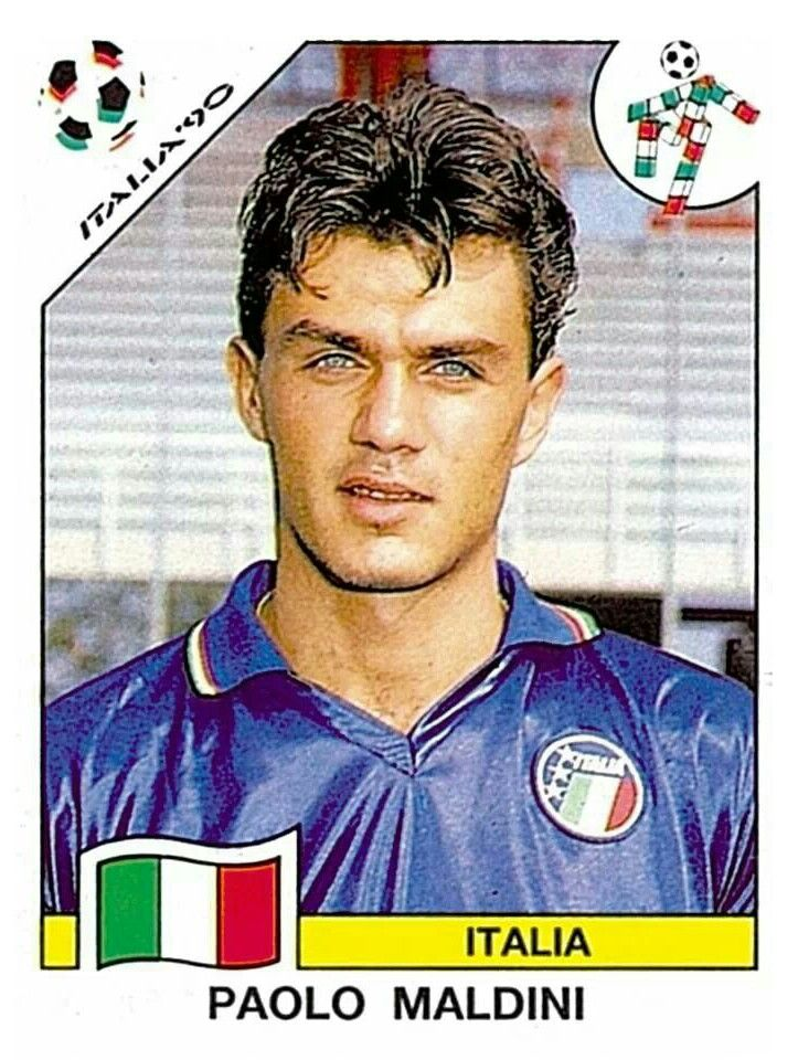 46 Paolo Maldini - Group A - Italia - FIFA World Cup Italia 1990
