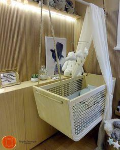 Detalhe do lindo e cheio de ideias para #pequenosespacos o Design de Ninar da Leila Dionísio. 10 metros quadrados com tudo que o bebê precisa e muita belezura.....#quartodebebe #CasaCorRJ @casacor_oficial @casacorrio_oficial