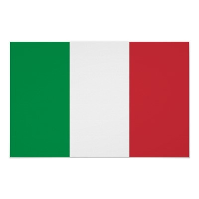 Framed print with Flag of  Italy