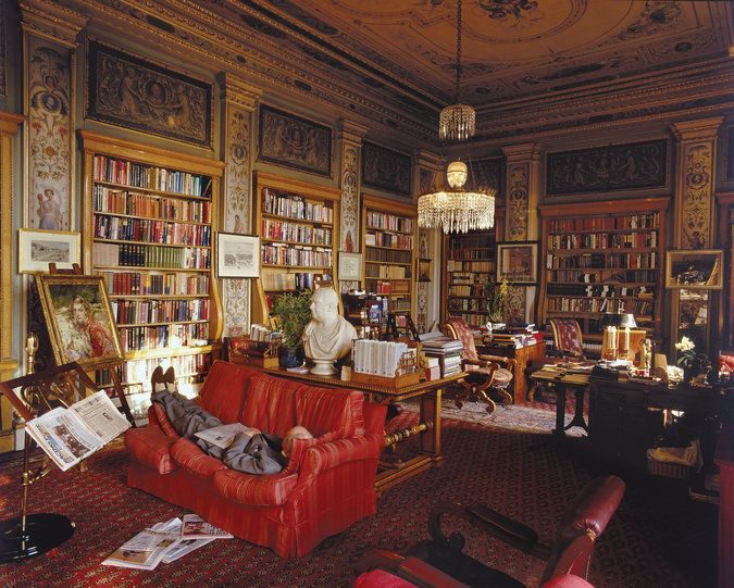 Chatworth Library. photo Christopher Simon Sykes/Hulton Archive/Getty Images via T magazine