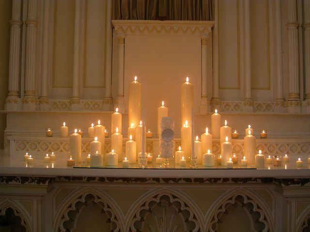 Luxe Wedding :: Candle Lit Wedding Altar :: Academy Chapel, Vancouver WA by Luxe Event Productions, via Flickr ....LOVE THIS!!! Must recreate this...without the horrid looking unity candle!!