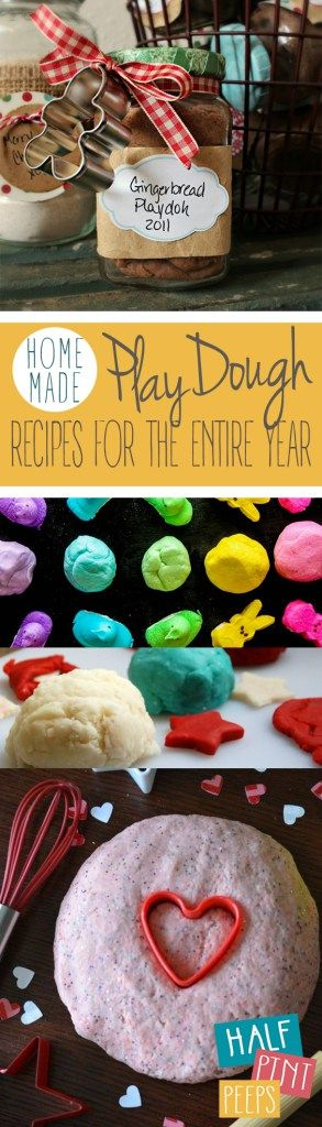 Homemade Play Dough Recipes For The Entire Year| DIY Playdough, How to Make Your Own Playdough, Crafts, Crafts for Kids, Fun Crafts for Kids, Playdough Recipes, Easy Playdough Recipes, Easy to Make Playdough Recipes, Edible Playdough, Kids Stuff, Activities for Kids
