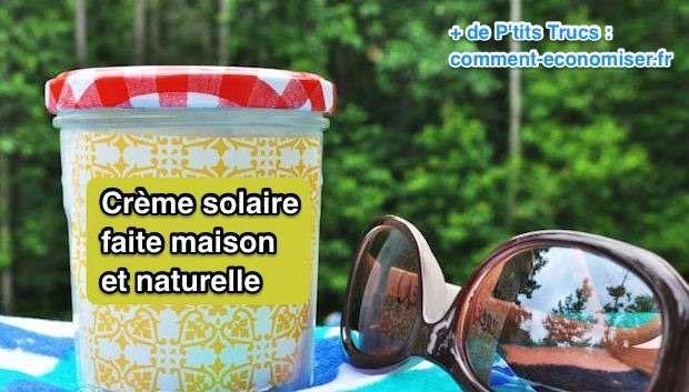 Crème solaire maison à base d'huile de coco