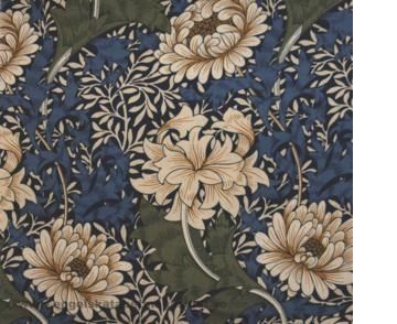William Morris Chrysanthemum Tyg