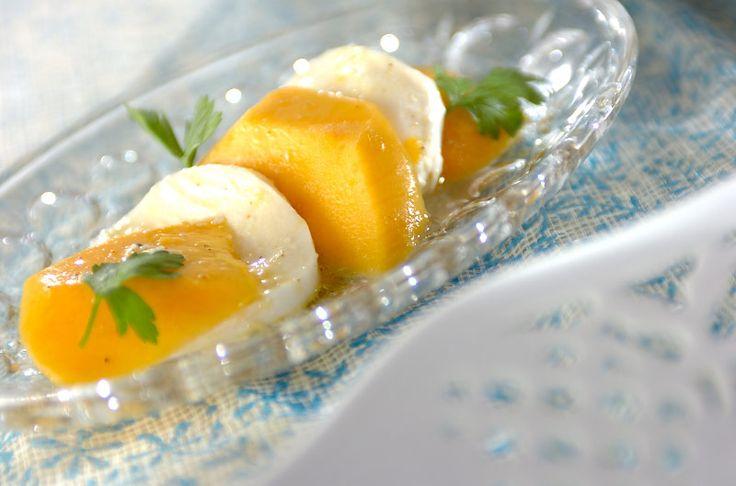 熟したマンゴーとチーズの塩気がおいしい。マンゴーとチーズのマリネ[洋食/前菜]2008.07.07公開のレシピです。
