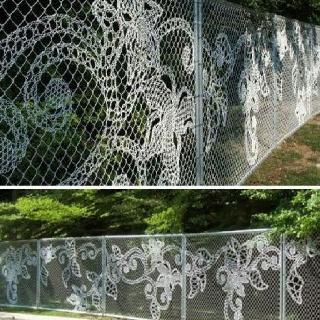 Chain link art.