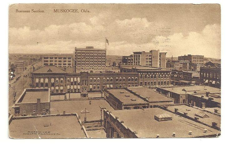 business section muskogee oklahoma posted 1911 vintage postcard victorian oklahoma pinterest. Black Bedroom Furniture Sets. Home Design Ideas