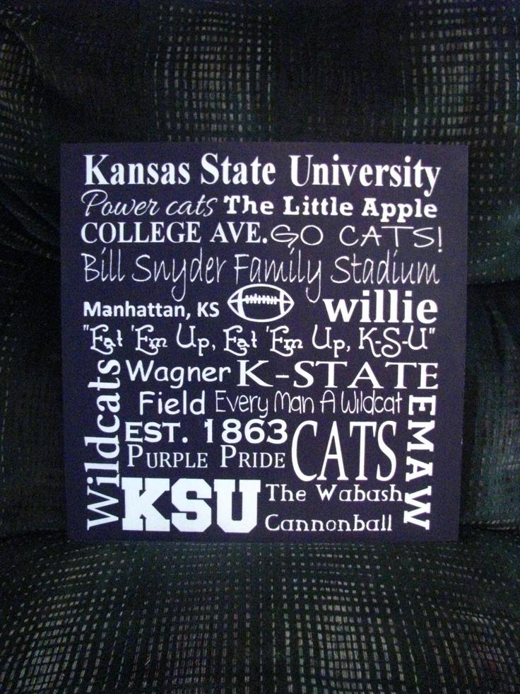 Kansas State University Subway Art by PorchPostPrimitives on Etsy, $35.00