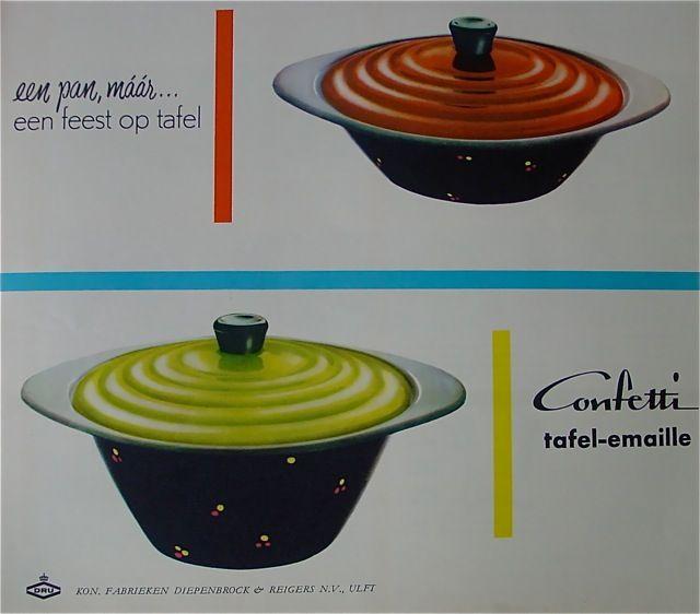 DRU Confetti tafel-emaille