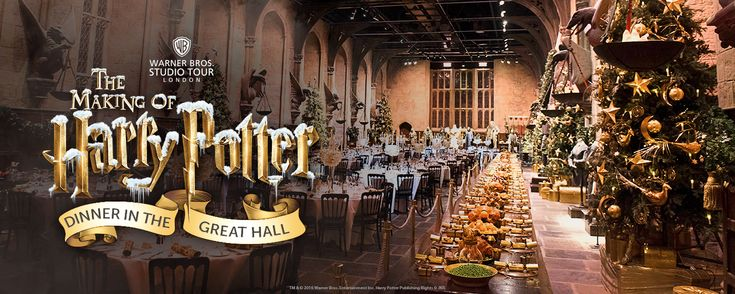"""Warner Brothers Studio Tour London: The Making of """"Harry Potter"""" - DINNER IN THE GREAT HALL - DISCOVER SOMETHING EXTRA SPECIAL BEHIND THE GREAT HALL DOORS THIS CHRISTMAS - Wednesday 7th - Thursday 8th December 2016  
