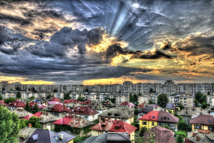 Bucharest from my balcony by Daniel Caluian on 500px