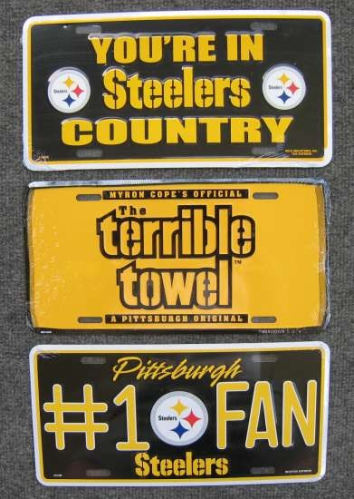 Great Steelers license plates from ChuckThomas.com