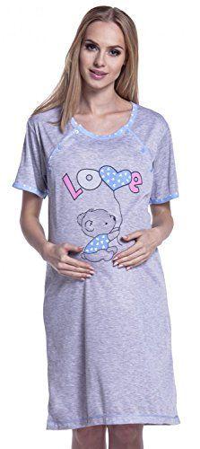 Camisón de embarazo y lactancia – femenino y realmente muy cómodo para dar de mamar al bebé! Camisón de manga corta, con cartoon estampado. Práctico cierre de botones. Confeccionado en confortable tejido elástico. HAPPY MAMA BOUTIQUE INTERNATIONAL CONVERSION SIZE CHART  UK SIZE l 08 l 10 l...