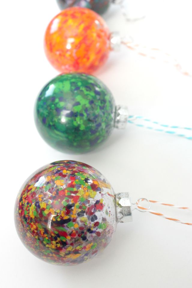 Pinterest ornaments melted crayons and disney christmas ornaments