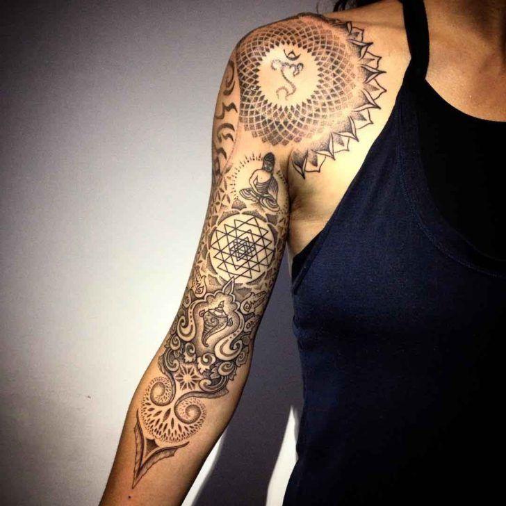 15 Beautiful Mandala Sleeve Tattoos For Women Brighter Craft Mandala Tattoo Sleeve Sleeve Tattoos For Women Half Sleeve Tattoos Designs