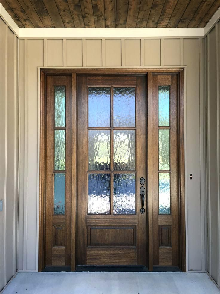 Mahogany Front Door With Privacy Gl