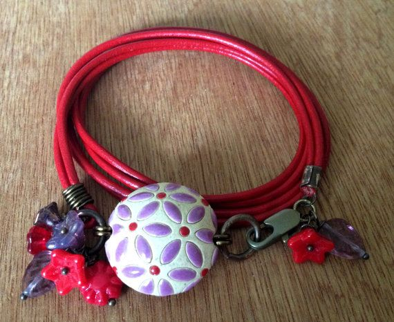 Red and Purple Cherry Blossom Genuine red by FloatingVintage, £18.00