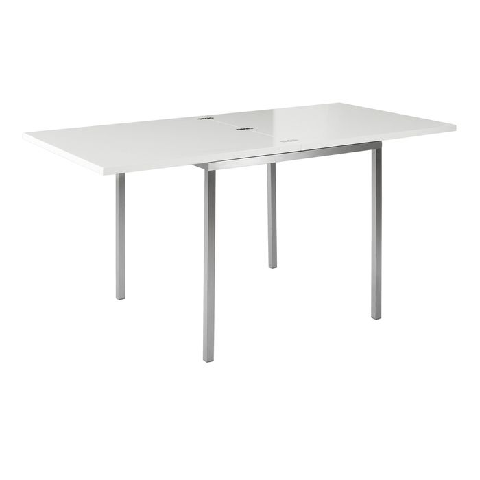 Flick extendable dining table white