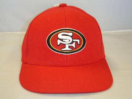 NFL San Francisco 49ers Red Logo Team Snapback Cap Retro