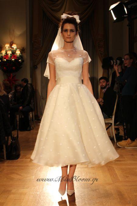 Vassilis Zoulias ankle lenght wedding dress!