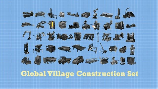 Global Village Construction Set - TED Talk by Open Source Ecology. TED Talk on the Global Village Construction Set (GVCS), presented by TED Fellow, Marcin Jakubowski, in Long Beach, California, February 28, 2011. Discusses the potential of open source, distributive economics - as embodied in the GVCS civilization starter kit.