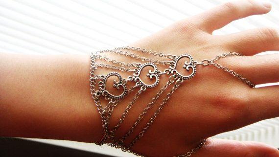 Silver slave bracelet bracelet ring slave ring ring by Ninnos