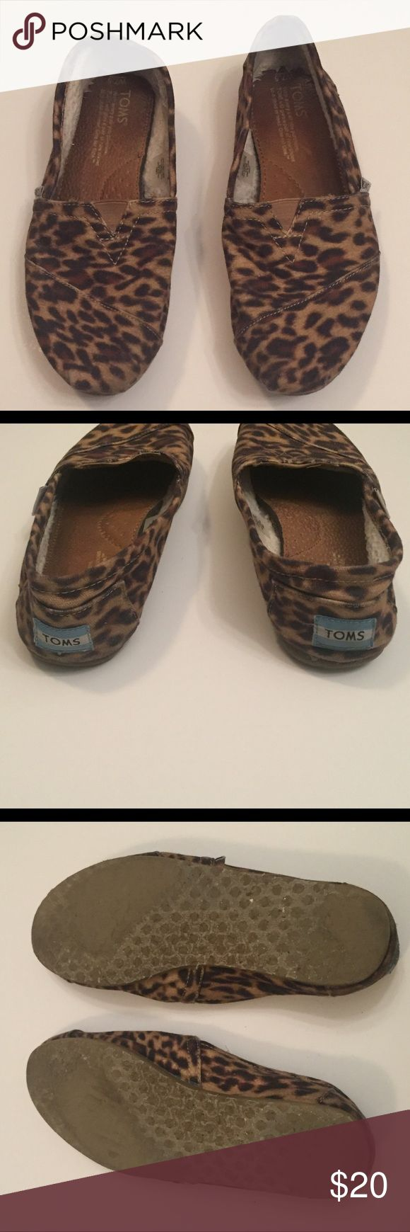 Leopard Toms Leopard Toms in used condition. No rips but wear on interior and sole as shown. TOMS Shoes Flats & Loafers