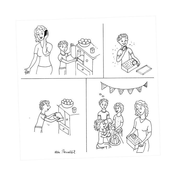 Bildergeschichte Aufgabe Klasse 3: Süße Versuchung ...